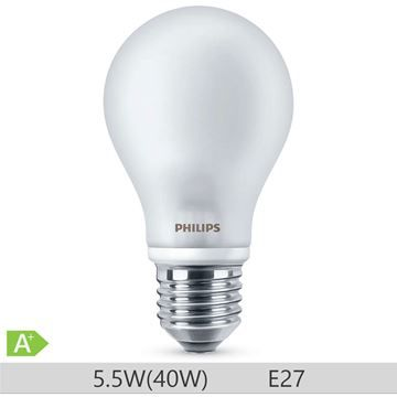 Bec LED Philips standard 40W E27 A60 lumina calda 230V ND Catalog becuri LED https://www.etbm.ro/becuri-led in gama completa disponibil pe https://www.etbm.ro