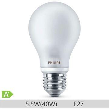 Bec LED Philips standard 40W E27 A60 lumina calda 230V ND