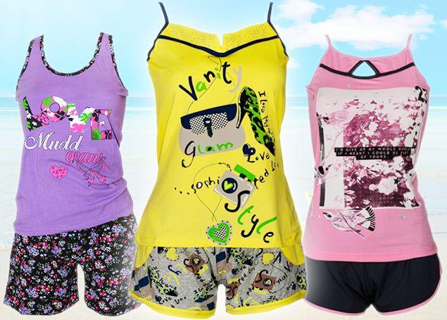 Γυναικείες, βαμβακερές καλοκαιρινές πυτζάμες MyMelia