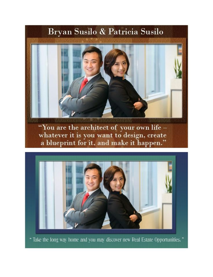 Bryan and Patricia Artawijaya Susilo runs a small land business providing fast-money solutions to sellers of worn-down property and properties in need of imperative sale. Facebook- https://www.facebook.com/bryansusilo You Tube- http://www.youtube.com/user/fullaznpride Linkedin- http://au.linkedin.com/pub/bryan-susilo/5a/b2/a22