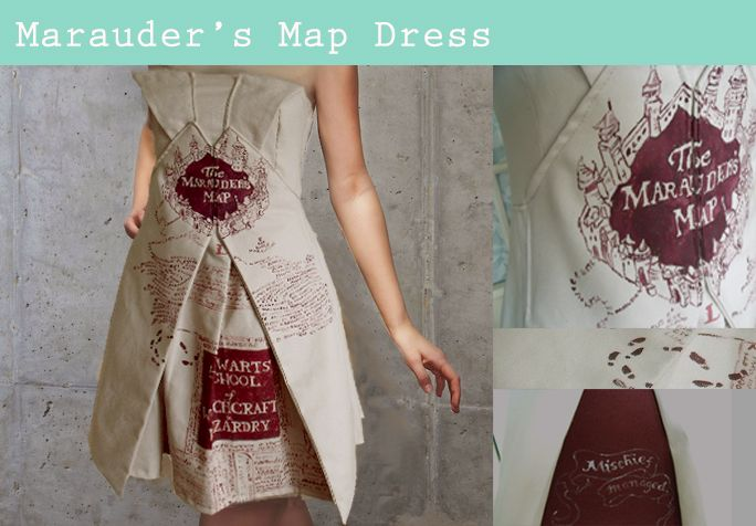 marauder's map dress - Google Search