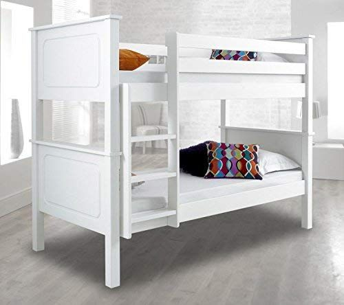 Happy Beds Vancouver Wooden Bunk Bed 3ft Single Solid Pine 2x
