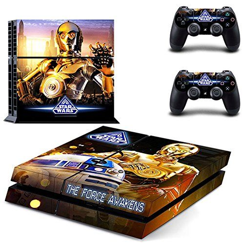 STAR WARS THE FORCE AWAKENS Designer Skin for Sony PlayStation 4 Console System plus Two2 Decals for PS4 Dualshock Controller >>> To view further for this item, visit the image link.Note:It is affiliate link to Amazon.