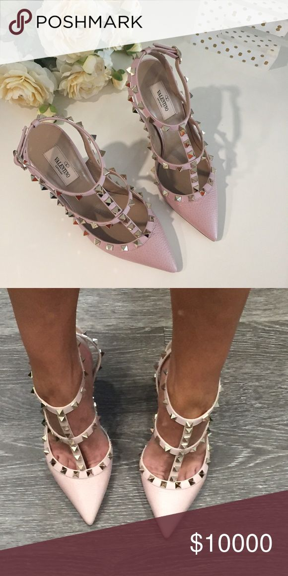 VALENTINO Rockstud Pumps in Water Rose My latest joy!!!! There's nothing like a stunning pair of shoes that makes you feel sexy, confident, and powerful! Not for sale, just sharing! ❤️ Valentino Shoes Heels