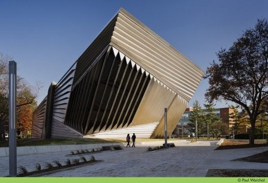 Eli & Edythe Broad Art Museum, at Michigan State University, East Lansing, Michigan; designed by Zaha Hadid Architects