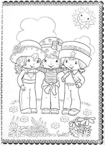 летние детские раскраски 2