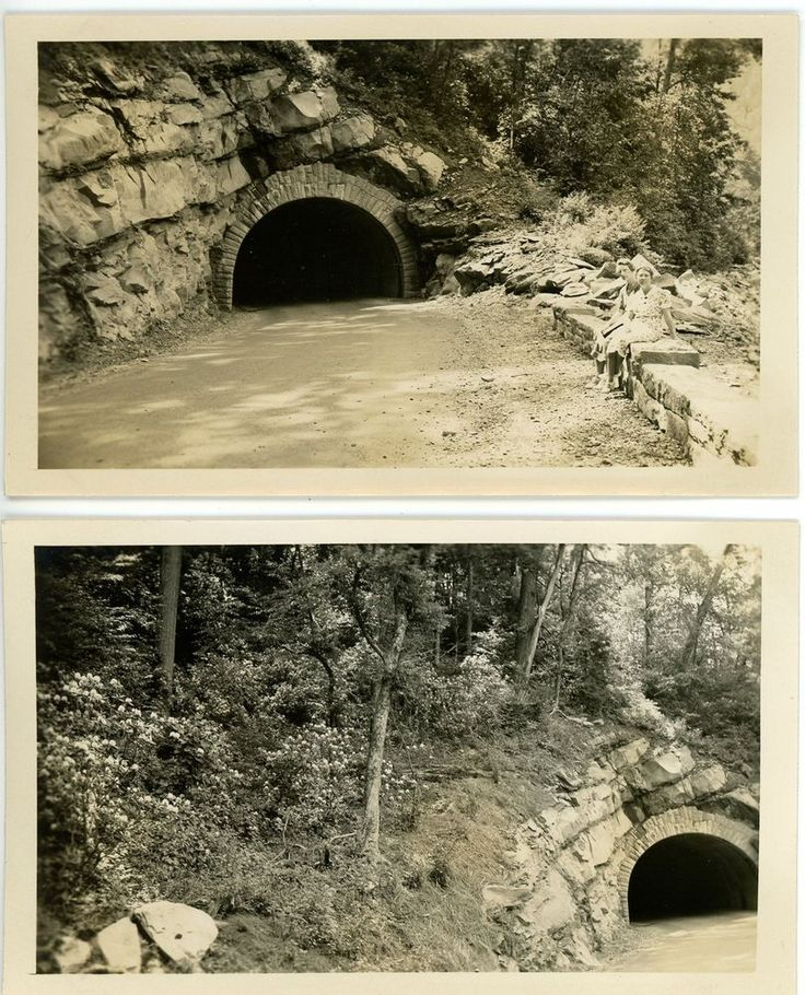 1937 Photos TN Tennessee Smoky Mountains Park Tunnel Views Newfound Gap Road?