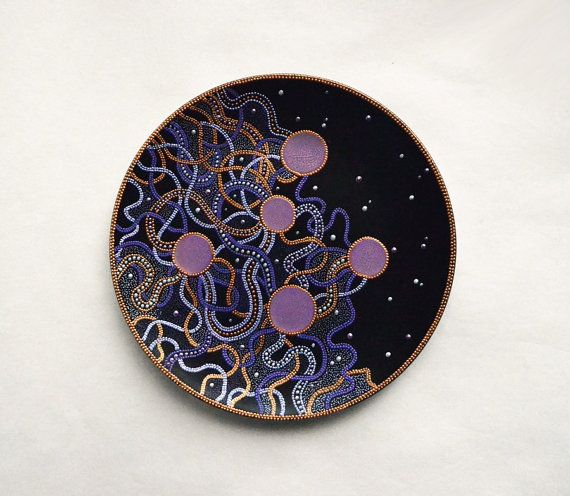 Wall hanging plate Space from the set Elements // Hand by LekaArt, $46.00