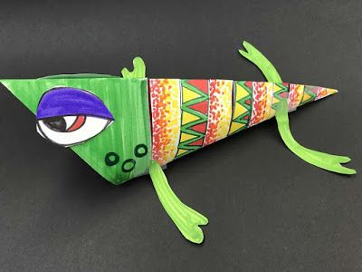 Kim & Karen: 2 Soul Sisters (Art Education Blog): Crazy 3D Fish / Creatures