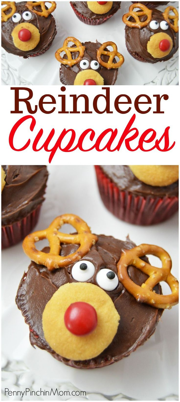 Reindeer Cupcakes for your Christmas party Reindeer food | Christmas recipes | Easy Holiday Baking ideas | Kid Ideas for Christmas #Christmas #cupcakes