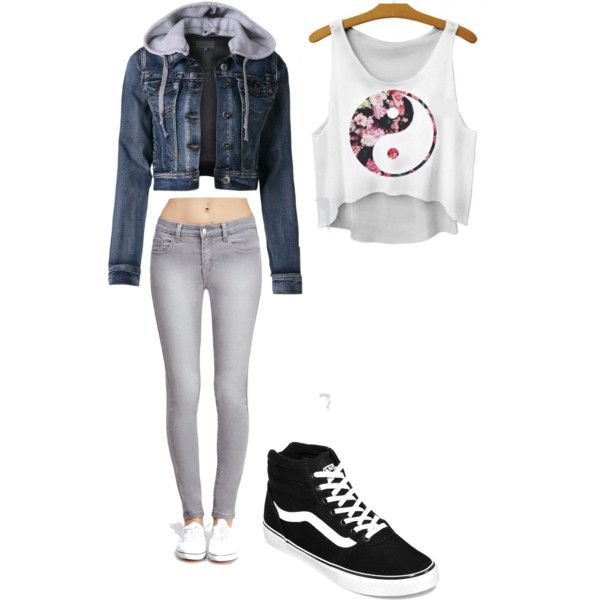 Ying & Yang by shaydaniels547 on Polyvore featuring polyvore, fashion, style, Forever 21 and Vans