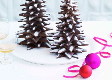 Australian Gourmet Traveller Christmas dessert recipe for gingerbread Christmas trees by Adriano Zumbo.