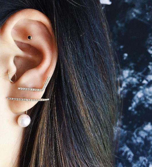 15 Awesome Ear Piercings Idea For Women - POP TATTOO |Unique Body Piercings For Women