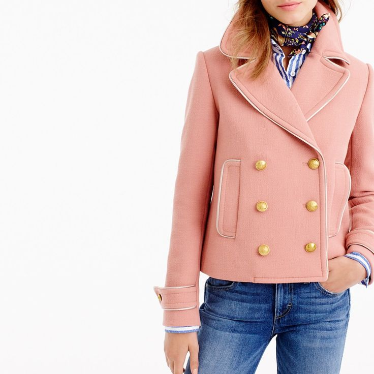J. Crew Short double-breasted coat on Shopstyle.