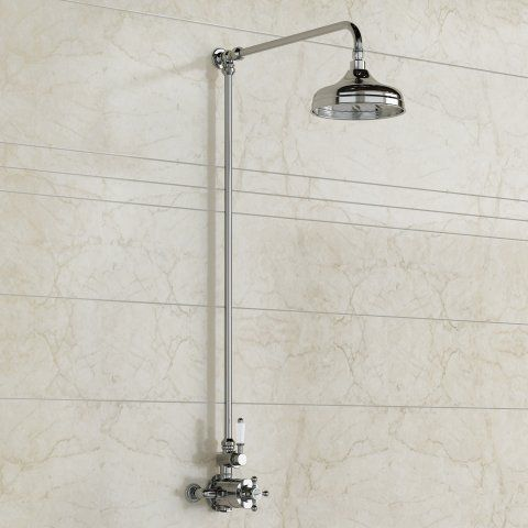 200mm Traditional Head - Exposed Thermostatic Mixer Shower Kit [PT-SB6813] - £149.99 : Platinum Taps & Bathrooms
