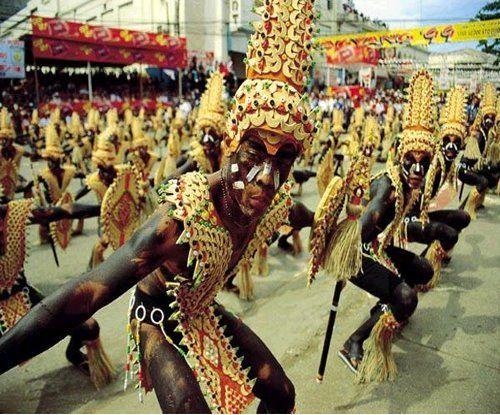 Ati-Atihan festival(Mardi Gras of the Philippines) in Kalibo, Aklan, Philippines