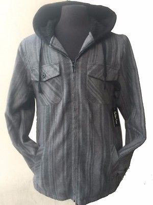 Tall & Warm Men's Full Zip Hooded Flannel & Sherpa Lined Long Sleeve Soft Fabric