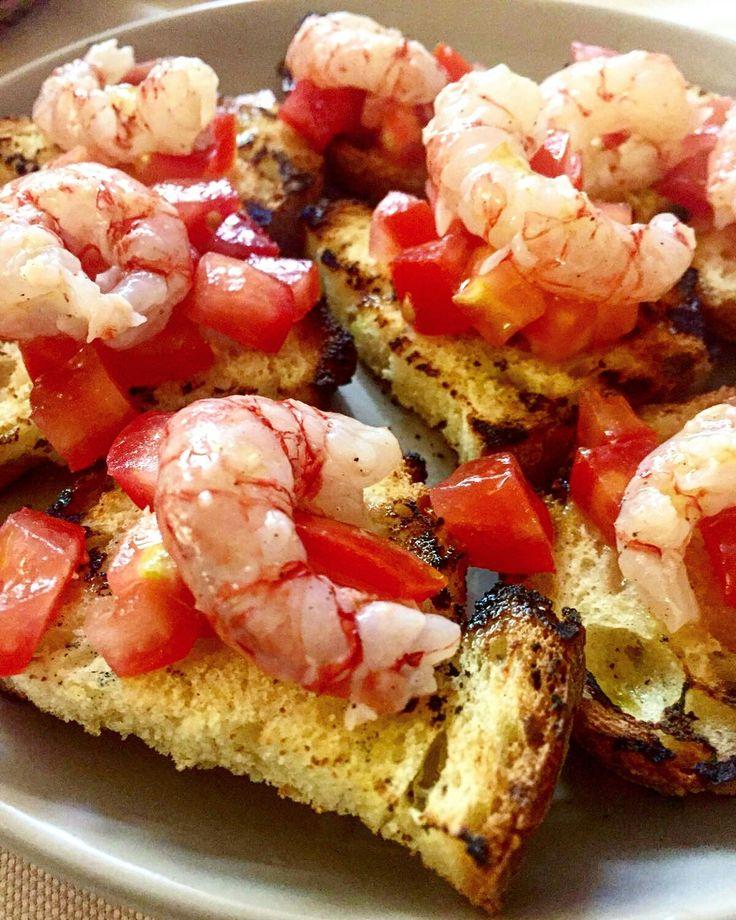 Bruschetta con gamberi rossi di #portosantospirito