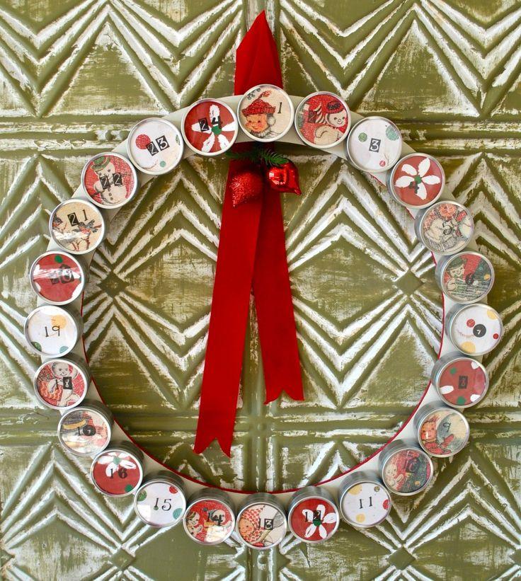 DIY Advent Calendar / Wreath via Homecrush