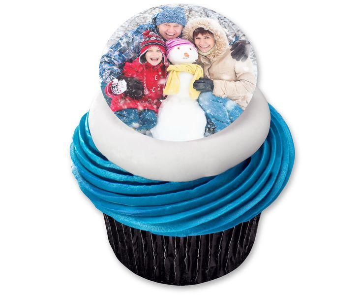 "Custom Photo Edible Cake Decoration, 7.5"" Diameter"