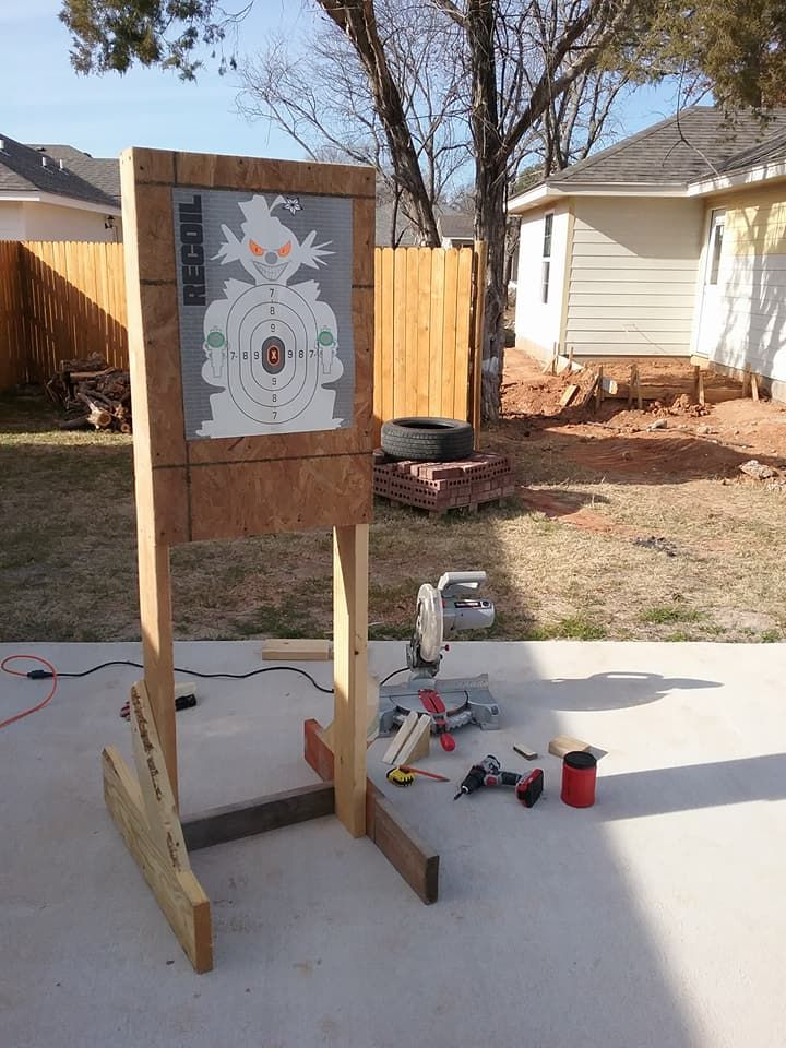 shooting target made with scrap wood my diy projects shooting rh pinterest com