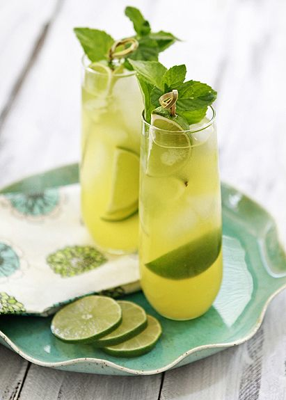 Pineapple limeade cooler - I'm sure it's better with vodka!
