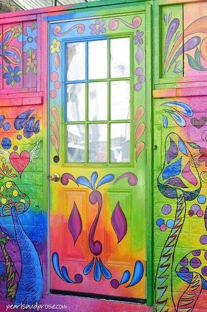 Painted Boho Inspiration. Love it, and do you see the mushrooms?