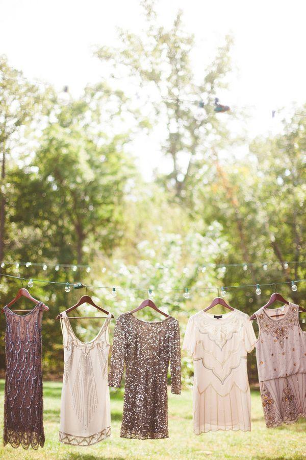 sequined bridesmaids dresses
