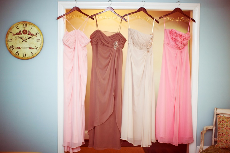 my bridesmaids dresses, including my 11th grade prom dress on the far left!: Bridesmaid Dresses, Bridesmaids Dresses, Grade Prom, Prom Dresses, 11Th Grade