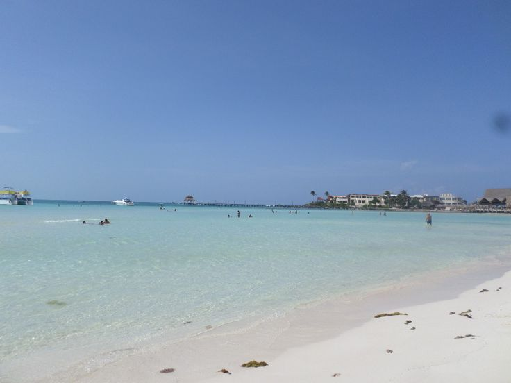 Isla Mujeres, just 7 miles ourside the coast of Cancun/Yucatan Peninsula, Mexico..  WHITE powder-sand and beautiful water