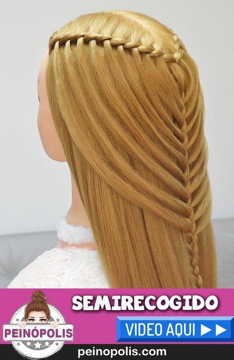 Semirecogidos Con Trenzas Para Cabello Largo Peinados Faciles Y - Peinados-semirecogidos-trenzas