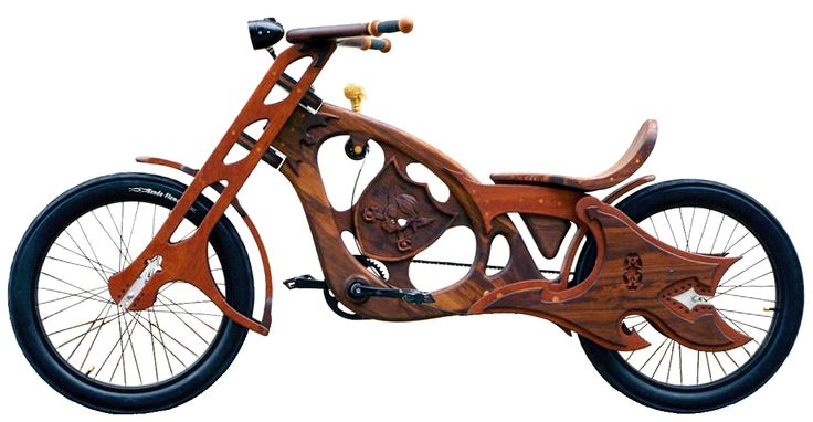 Recycled Wood made into Bicycles!  Gorgeous!  The two people behind this project (wood bicycles), Bill Holloway and Mauro Hernandez, are located in San Jose which is a particularly great place to get access to urban wood resources.