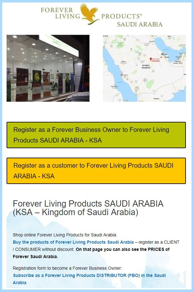 Saudi Arabia Ksa Business Opportunity Offered From The Aloe Vera Company Forever Living Products Click O Forever Living Products Forever Business Forever