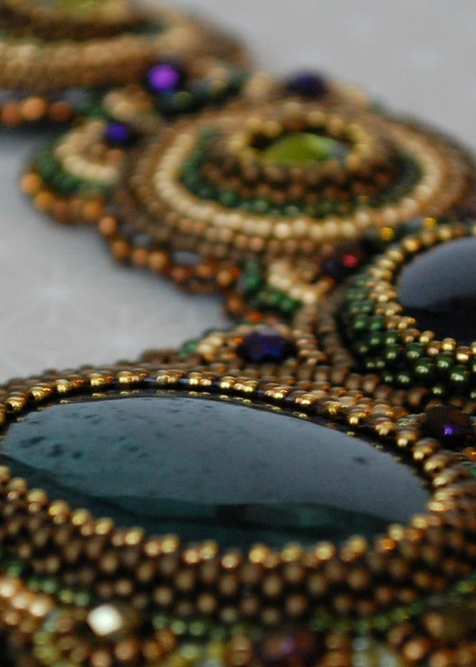 An Introduction To Bead Embroidery - Whilst you won't create anything quite as complex as our example piece, Vicky will walks you through the basics of bead embroidery including backing, bezeling, stitching and finishing..