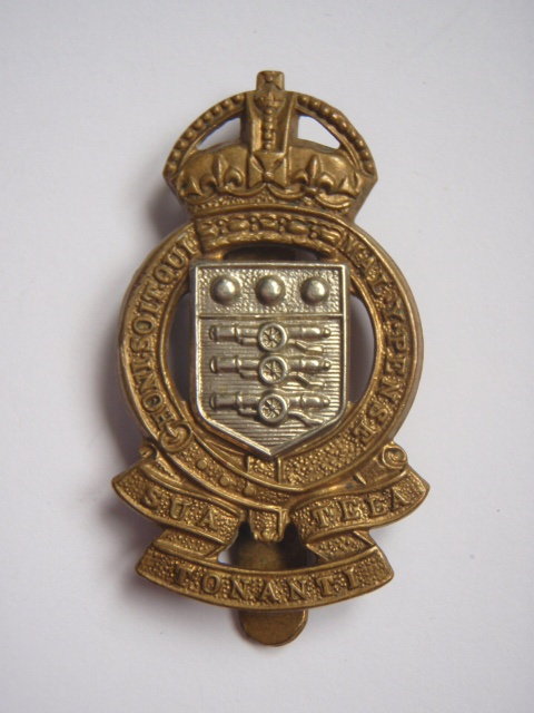 Royal Army Ordnance Corps Cap Badge - King's Crown (2nd Pattern)