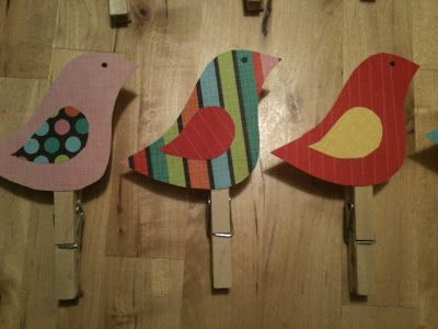 Finally made some clothespin birds to hang up student work!