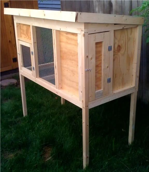 Diy two story rabbit hutch plans woodworking projects for Diy hutch plans