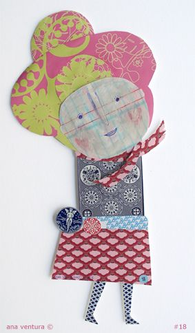 scrap of paper doll #18   Flickr - Photo Sharing!