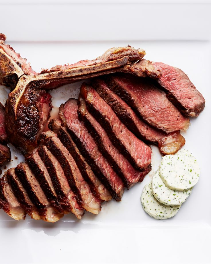 Seared Porterhouse Steak Recipe | Martha Stewart Living — A T-bone steak would also work in this recipe.