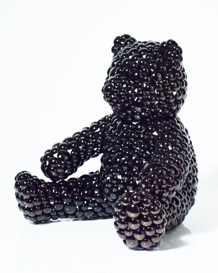 The Public House of Art | Valay Shende - Black Teddy Bear Modern Sculpture #awesomeart