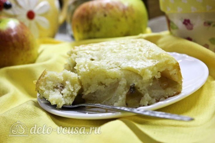 Пирог с манкой и яблоками #пироги #яблока #яблочныйпирог #сладкаявыпечка #рецепты #деловкуса #готовимсделовкуса