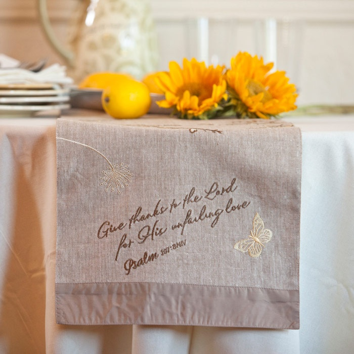 Table runner, from My Blessings Unlimited