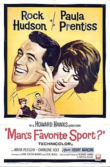 Girl-chasing is the real national pastime! Rock Hudson is a fishing expert for Abercrombie & Fitch (they have a fishing expert?) who, truth to tell, never picked up a rod or reel. His girl (Paula Prentiss) knows his secret and embarrasses him at a fishing contest.