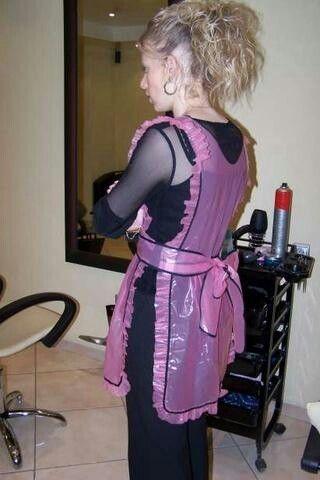 Purple plastic apron | aprons,smocks, salon capes etc . | Pinterest