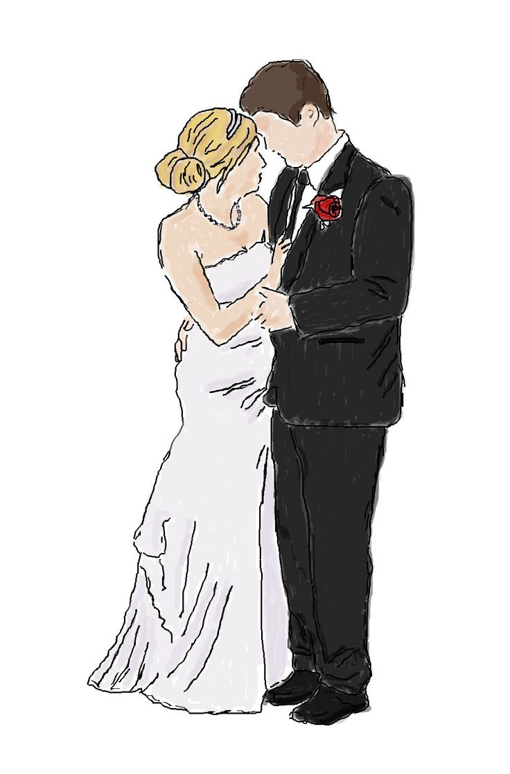 How to easily create your own watercolour style image of your wedding for free.