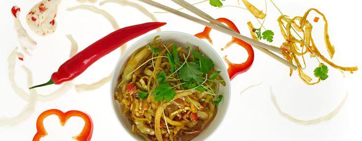 Nasi goreng asiatisk pytt i panne