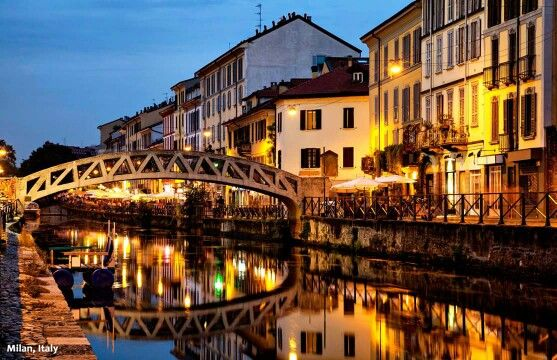 """When you hear """"canal"""" and """"Italy"""", you automatically think of Venice, right? While the canals there are undeniably beautiful, don't overlook the other beautiful canals in Italy! How about visiting the Naviglio Grande Canal in Milan? barretttravel.globaltravel.com pamelabarrett22@gmail.com"""