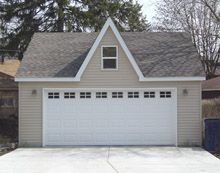 17 best images about custom garages on pinterest quad for Reverse gable garage