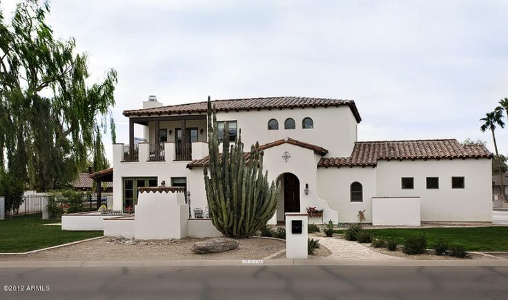 22 best exteriors images on pinterest american houses for Santa barbara style architecture