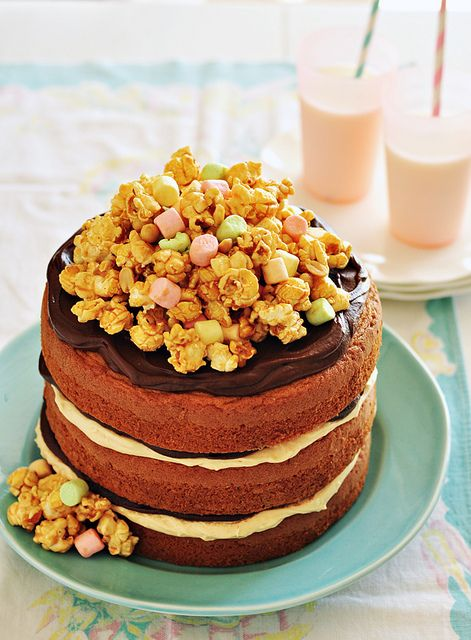 Peanut Butter & Chocolate Cake by Sweetapolita, via Flickr